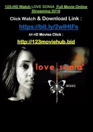 LIVE-STREAM Watch LOVE SONIA 2018 Full Movie Online Streaming 2018 TELUGU TREND