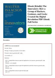 Ebook [Kindle] The Innovators How a Group of Hackers  Geniuses  and Geeks Created the Digital Revolution PDF Ebook Full Series
