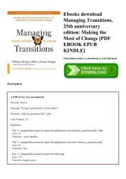 Ebooks download Managing Transitions  25th anniversary edition Making the Most of Change [PDF EBOOK EPUB KINDLE]