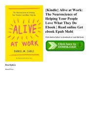 {Kindle} Alive at Work The Neuroscience of Helping Your People Love What They Do Ebook  Read online Get ebook Epub Mobi