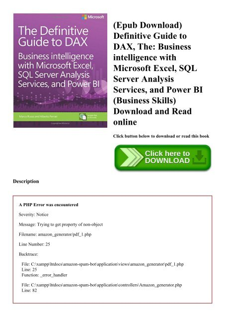 Epub Download) Definitive Guide to DAX The Business