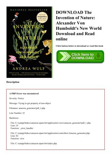 DOWNLOAD The Invention of Nature Alexander Von Humboldt's New World Download and Read online