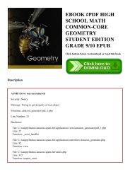 EBOOK #PDF HIGH SCHOOL MATH COMMON-CORE GEOMETRY STUDENT EDITION GRADE 910 EPUB