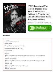 Diaries pdf heroin