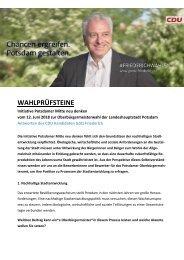 Wahlprüfsteine PMND. Götz Friederich  CDU