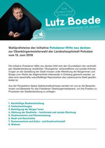 Wahlprüfsteine PMND. Lutz Boede                         DIE aNDERE