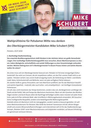 Wahlprüfsteine PMND. Mike Schubert SPD 2
