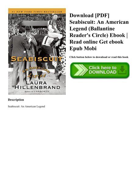 Download [PDF] Seabiscuit An American Legend (Ballantine Reader's