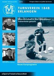 Vereinszeitung 6/2012 - TV 1848 Erlangen