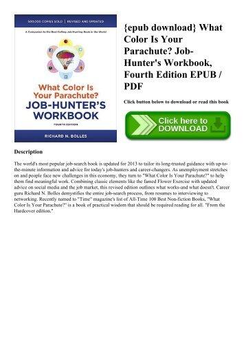 {epub download} What Color Is Your Parachute Job-Hunter's Workbook  Fourth Edition EPUB  PDF