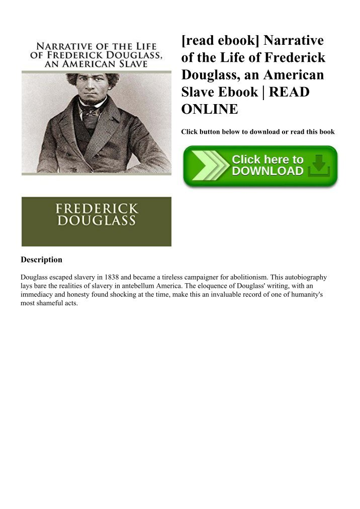 an analysis of the narrative of the life of frederick douglass an american slave a memoir by frederi Br51200 r621267 bb51199 (con) june 09, 1976, p 6 b) appl an: the detroit news, employer for hire 0 the detroit news universal press syndicate.