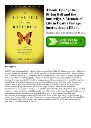 Free download the the and diving bell butterfly epub