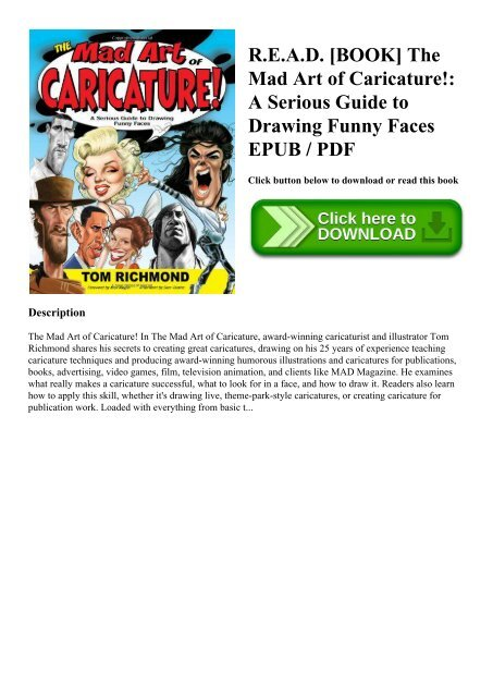 R E A D Book The Mad Art Of Caricature A Serious Guide