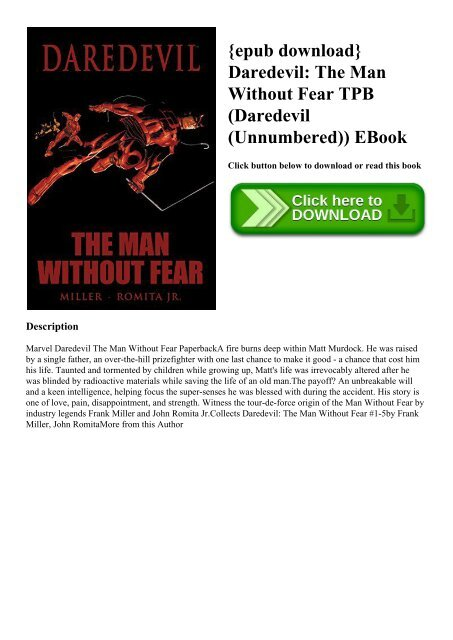 epub download} Daredevil The Man Without Fear TPB (Daredevil