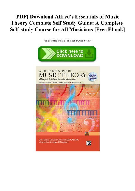 Pdf Download Alfred S Essentials Of Music Theory Complete Self Study Guide A Complete Self Study Course