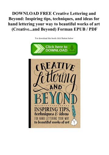Free Ebook Creative Lettering And Beyond Inspiring Tips Techniques Unique Download Inspiring Images