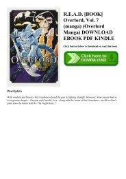 Epub Kindle) Overlord Vol  2 (light novel) The Dark Warrior PDF