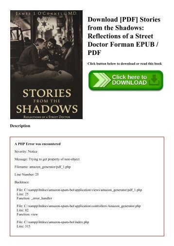 Download [PDF] Stories from the Shadows Reflections of a Street Doctor Forman EPUB  PDF