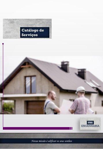 CATALOGO DE SERVIÇOS - FRX ENGENHARIA