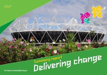 Summary report - London 2012 Olympics