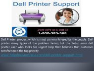 1-800-383-368 Quick Relieve Dell Printer Support Number