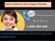 Helpline 1-800-383-368 Trouble Free Norton Antivirus Support Australia
