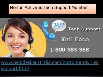 Helpline 1-800-383-368 Trouble Free Norton Antivirus Support Australia