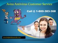 1-800-383-368 Avira Antivirus Customer Support Number Australia- Get Instant Support
