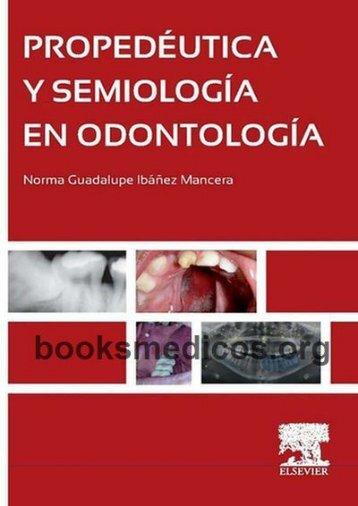 Propedeutica y Semiologia en Odontologia