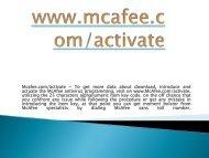 Mcafee.com/activate- Activate Mcafee Antivirus Online