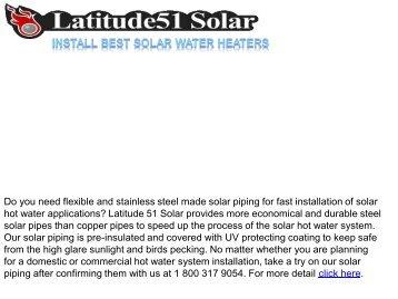Install Best Solar Water Heaters