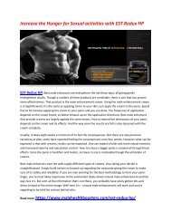 Increase Your Sexual Energy Level and stamina with EST Redux HP