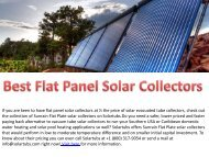 Best Flat Panel Solar Collectors