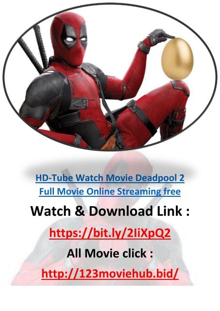 Stream Deadpool 2 Full Movie Online Streaming Free 2 0 1 8 825mb