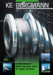 KE-MASTERFLEX® Rubber Expansion Joints for Liquids and Gases