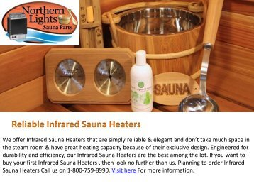 Reliable Infrared Sauna Heaters