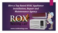 Hire a Top Rated HVAC Appliance Installation