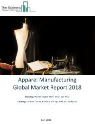 Apparel Manufacturing Global Market Report 2018