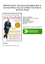 DOWNLOAD in PDF The Success Principles How to Get from Where You Are to Where You Want to Be FULL-PAGE