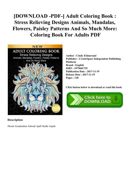 adult coloring book stress relieving