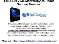1-888-489-7936 Malwarebytes Phone Support Number