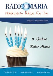 Radio Maria Magazin - September 2018