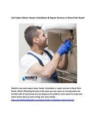 Get Expert Water Heater Installation & Repair Services in West Palm Beach