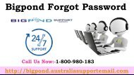 Trouble shoot Bigpond Forgot Password Issue   Dial Support 1-800-980-183