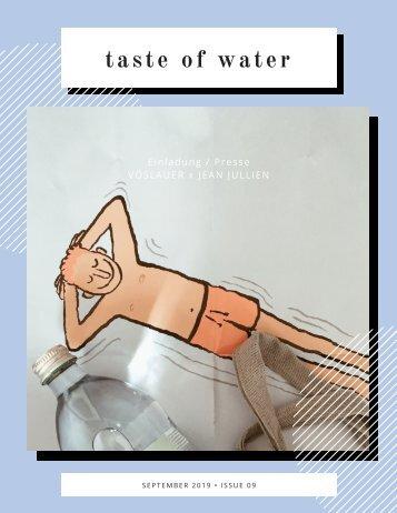 taste of water
