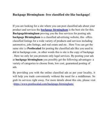 backpage birmingham