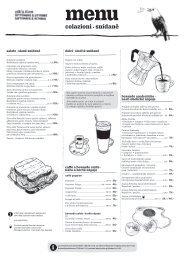 snídaně menu, září–říjen