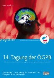 14. Tagung der ÖGPB - Medizin Akademie