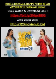1080HD Watch HAPPY PHIRR BHAG JAYEGI Full Movie Online 2018 TELUGU