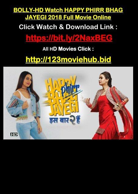 1080hd Watch Happy Phirr Bhag Jayegi Full Movie Online 2018 Telugu